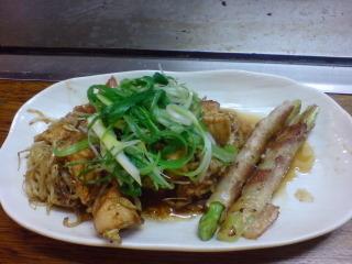 2010.11.23鶏もものたれ焼&アスパラの豚巻き.jpg