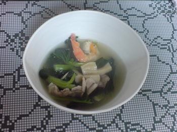 2011.01.14ホタテと神奈川県差産ターツァイのスープ.jpg
